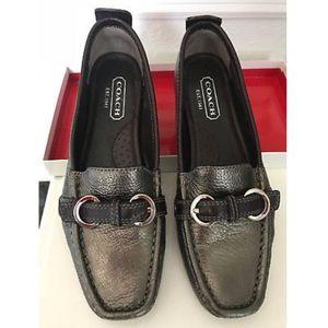 COACH Signature Shoes Jillian bronze Size6 NIB